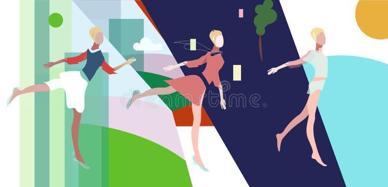 wektorowa ilustracja trzy kobieta royalty ilustracja
