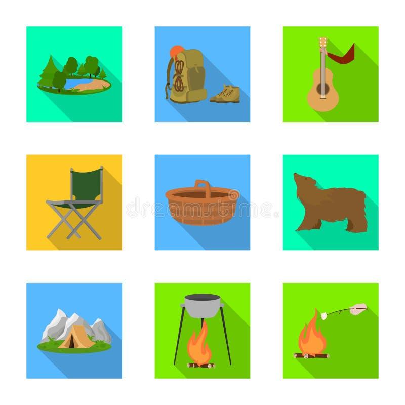 Wektorowa ilustracja turystyki i wycieczek znak Kolekcja turystyki i odpoczynku wektorowa ikona dla zapasu ilustracji