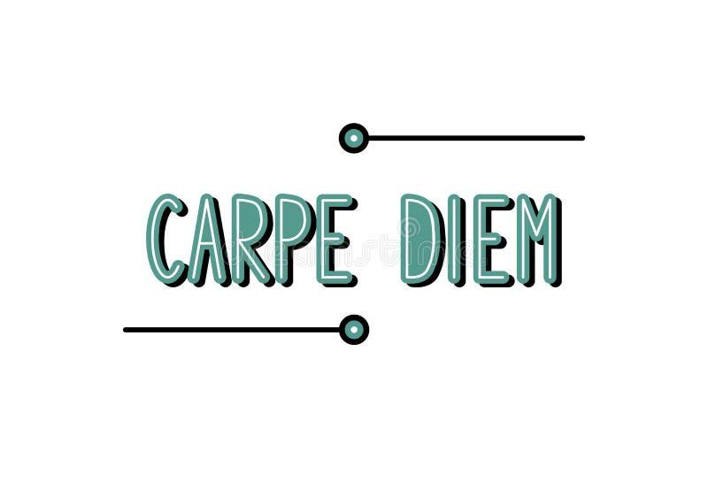 Wektorowa ilustracja Uchwyta dzień - Carpe diem - royalty ilustracja