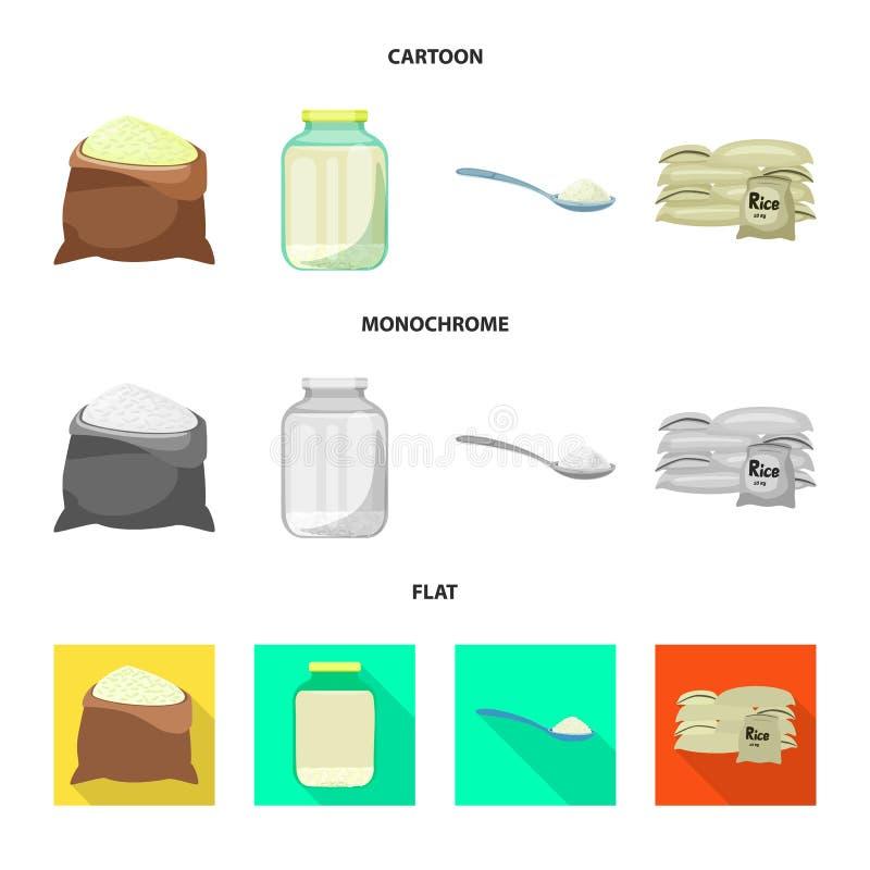 Wektorowa ilustracja uprawa i ekologiczny logo Kolekcja uprawa i kucharstwo akcyjna wektorowa ilustracja ilustracji