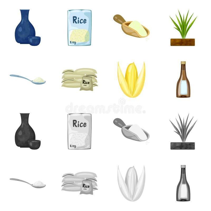 Wektorowa ilustracja uprawa i ekologiczny znak Kolekcja uprawa i kulinarna wektorowa ikona dla zapasu ilustracja wektor