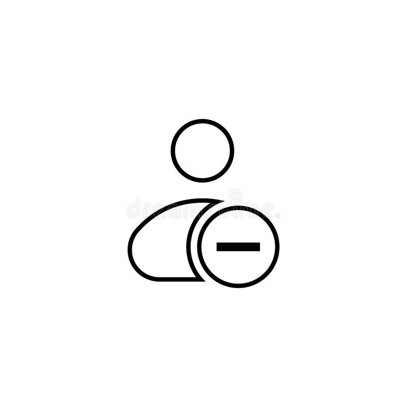 Wektorowa ilustracja usuwa użytkownik akci ikonę menu guzika interfejsu użytkownika elementu szablon, odznaka, symbol, firma logo royalty ilustracja