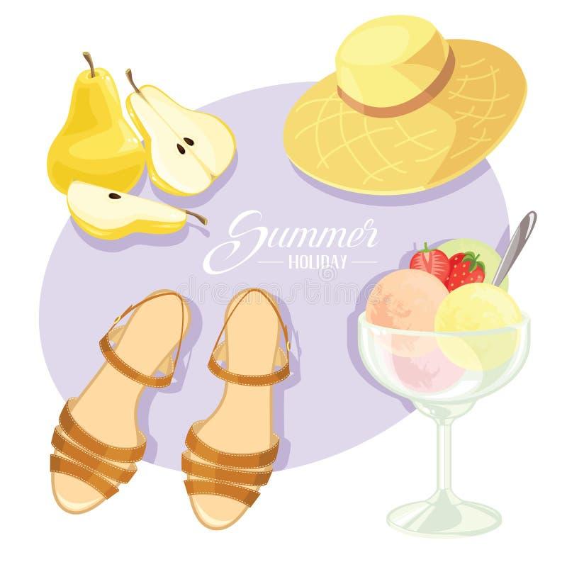 Wektorowa ilustracja wakacje letni motyw ilustracji