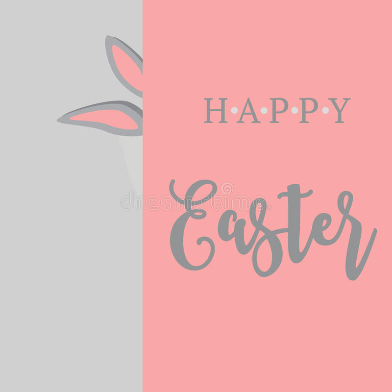 Wektorowa ilustracja Wielkanocnego królika ucho karta zdjęcie royalty free