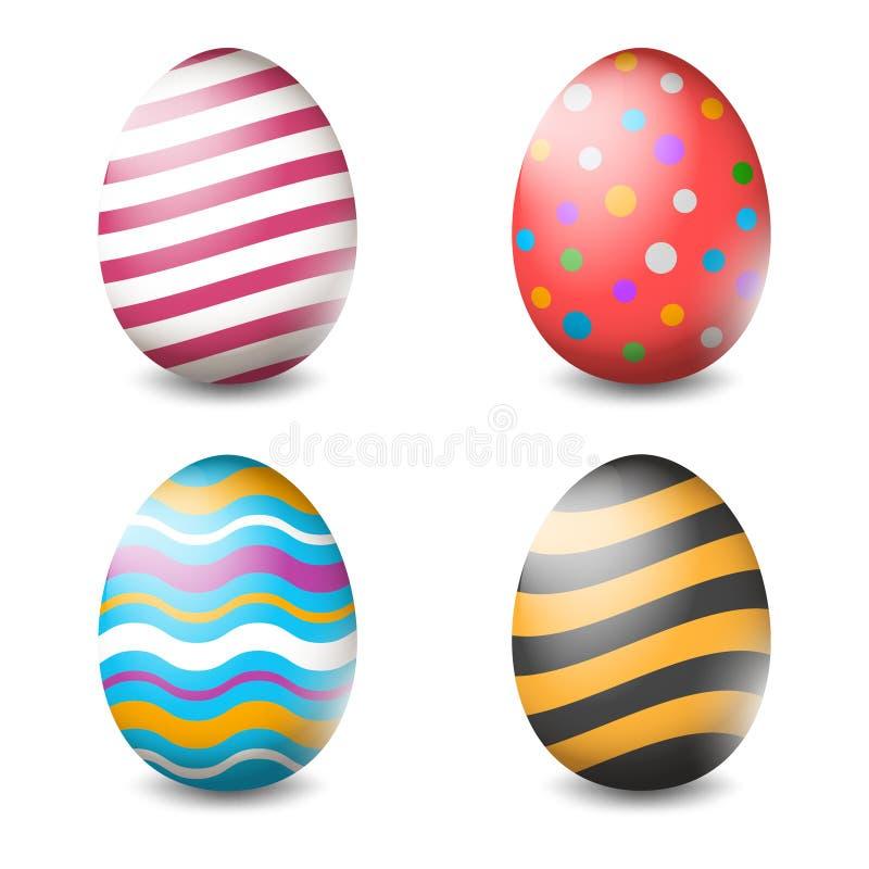 Wektorowa ilustracja Wielkanocni jajka inkasowi na białym tle - wektor ilustracji