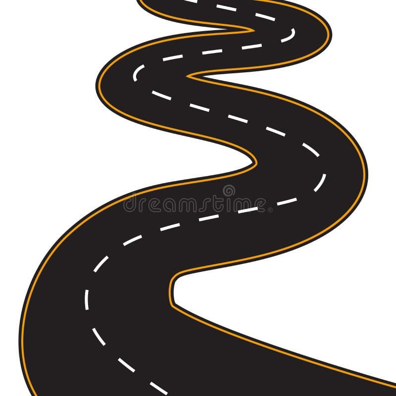 Wektorowa ilustracja wijąca droga ilustracji