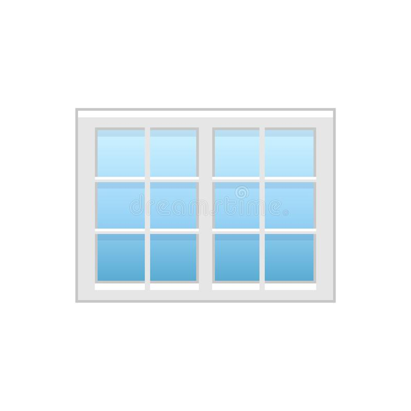 Wektorowa ilustracja winylowy lufcik lub szarfy francuski okno fla ilustracji