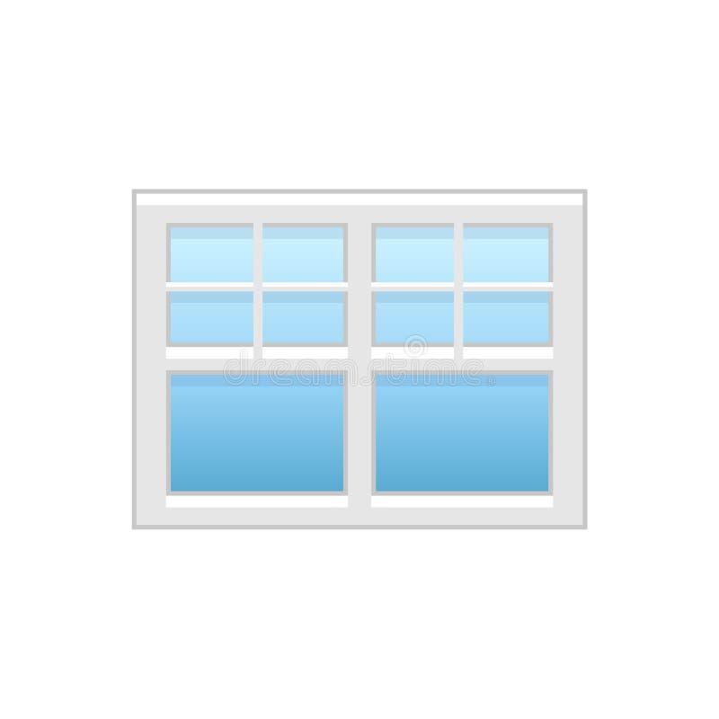 Wektorowa ilustracja winylowy lufcik lub szarfy okno Płaska ikona ilustracji