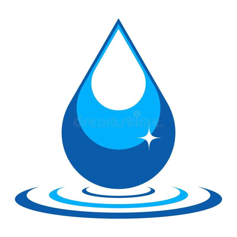 Wektorowa ilustracja wody kropla royalty ilustracja