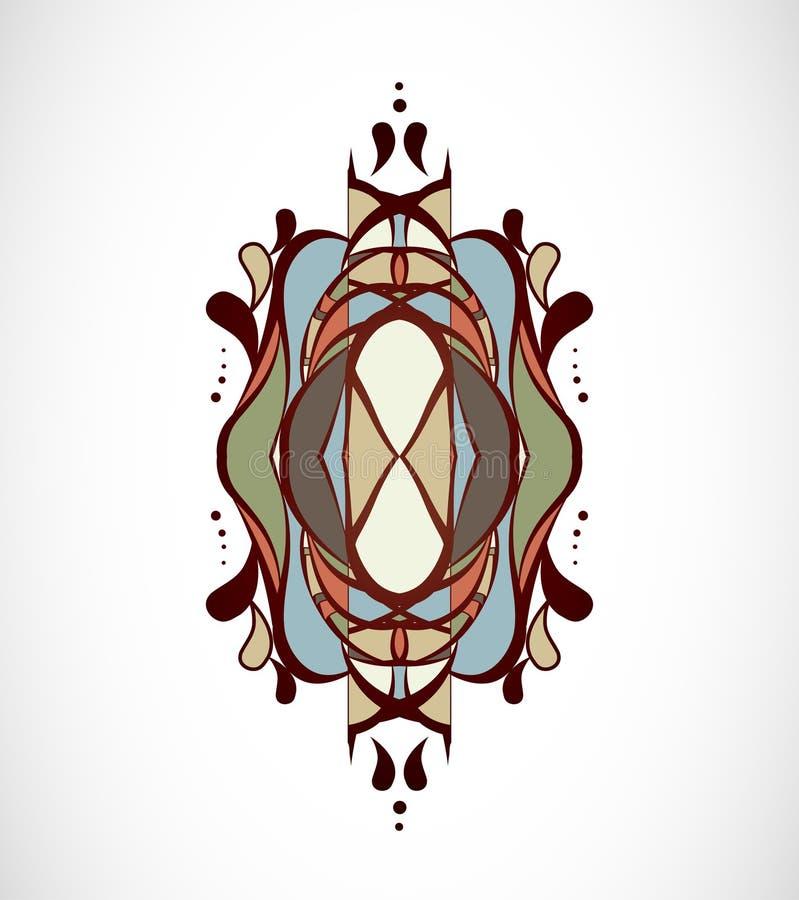 Wektorowa ilustracja z abstrakcją zdjęcie royalty free