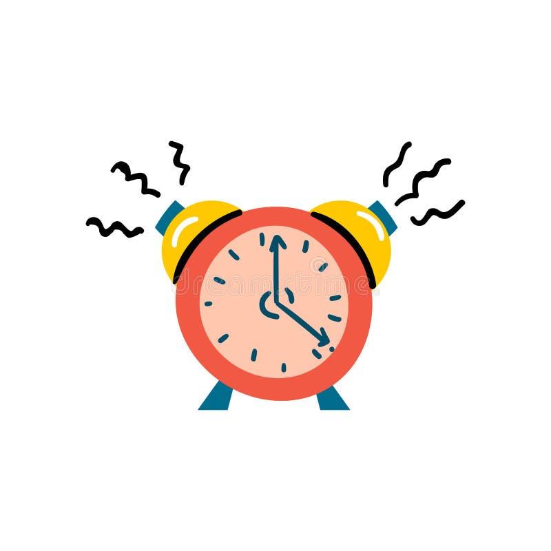 Wektorowa ilustracja z czerwoną budzik ikoną ilustracji
