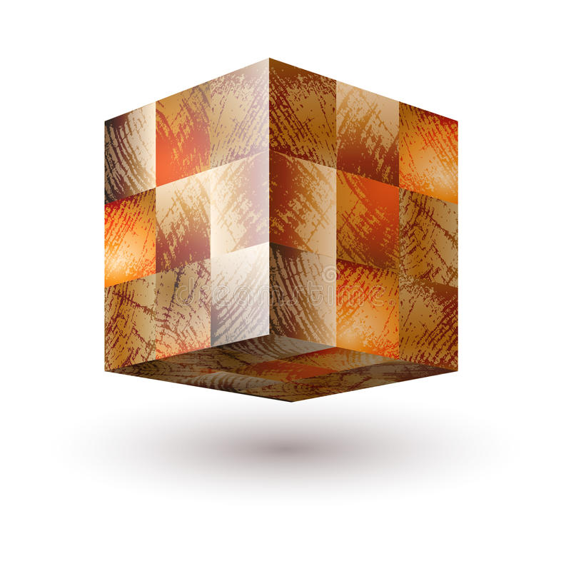 Wektorowa ilustracja z odosobnioną drewnianą teksturą paskował bloki royalty ilustracja
