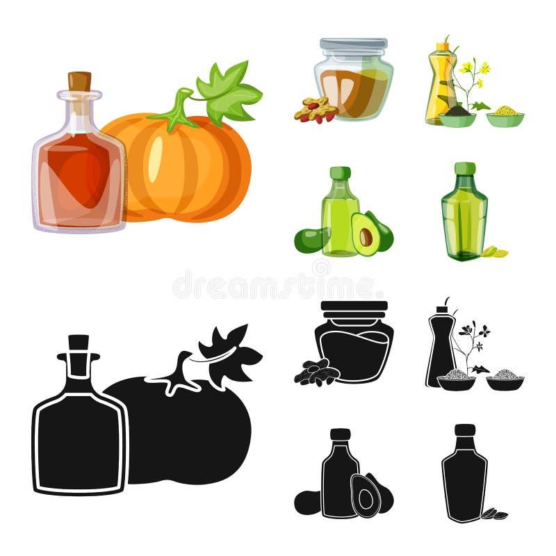 Wektorowa ilustracja zdrowa i jarzynowa ikona Set zdrowy i rolnictwo akcyjny symbol dla sieci royalty ilustracja