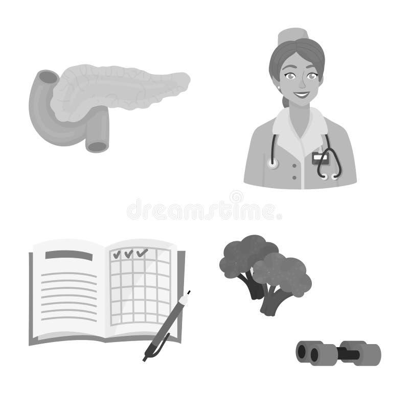 Wektorowa ilustracja zdrowie i diety znak Set zdrowie i choroby akcyjna wektorowa ilustracja royalty ilustracja