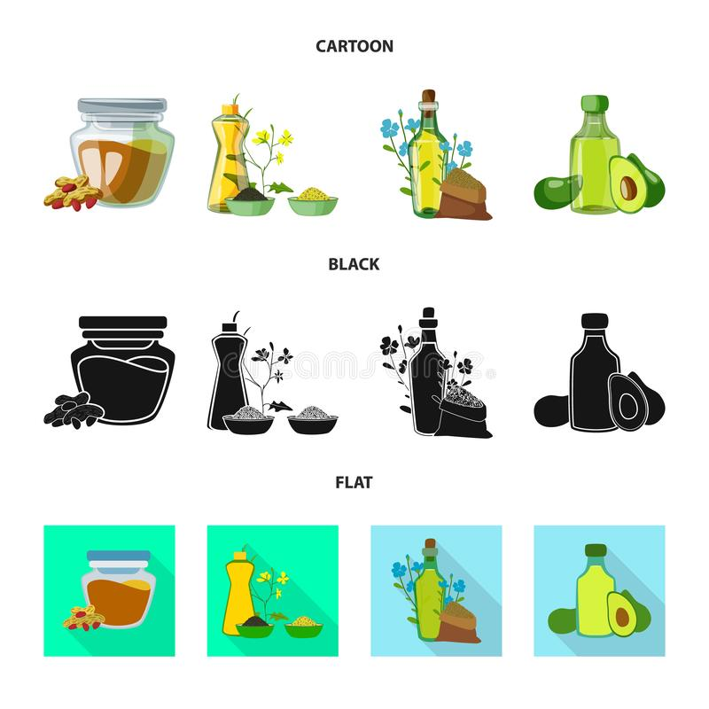 Wektorowa ilustracja zdrowy i jarzynowy symbol Kolekcja zdrowa i rolnictwo akcyjna wektorowa ilustracja ilustracji