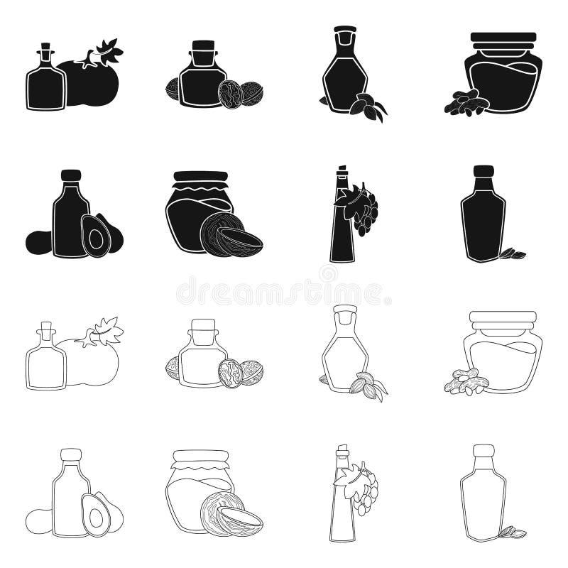 Wektorowa ilustracja zdrowy i jarzynowy symbol Set zdrowy i rolnictwo akcyjny symbol dla sieci ilustracji