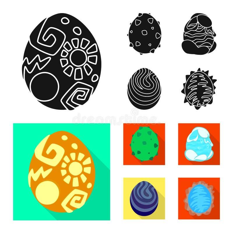 Wektorowa ilustracja zwierzęcy i prehistoryczny symbol Kolekcja zwierzęcy i śliczny akcyjny symbol dla sieci royalty ilustracja