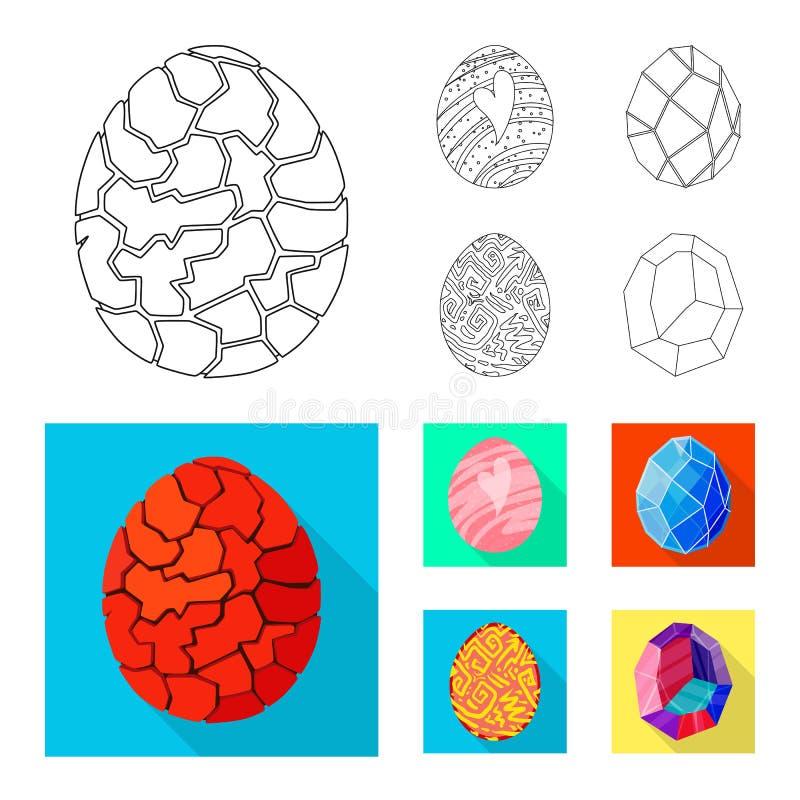 Wektorowa ilustracja zwierzęcy i prehistoryczny symbol Set zwierzęca i śliczna wektorowa ikona dla zapasu ilustracja wektor