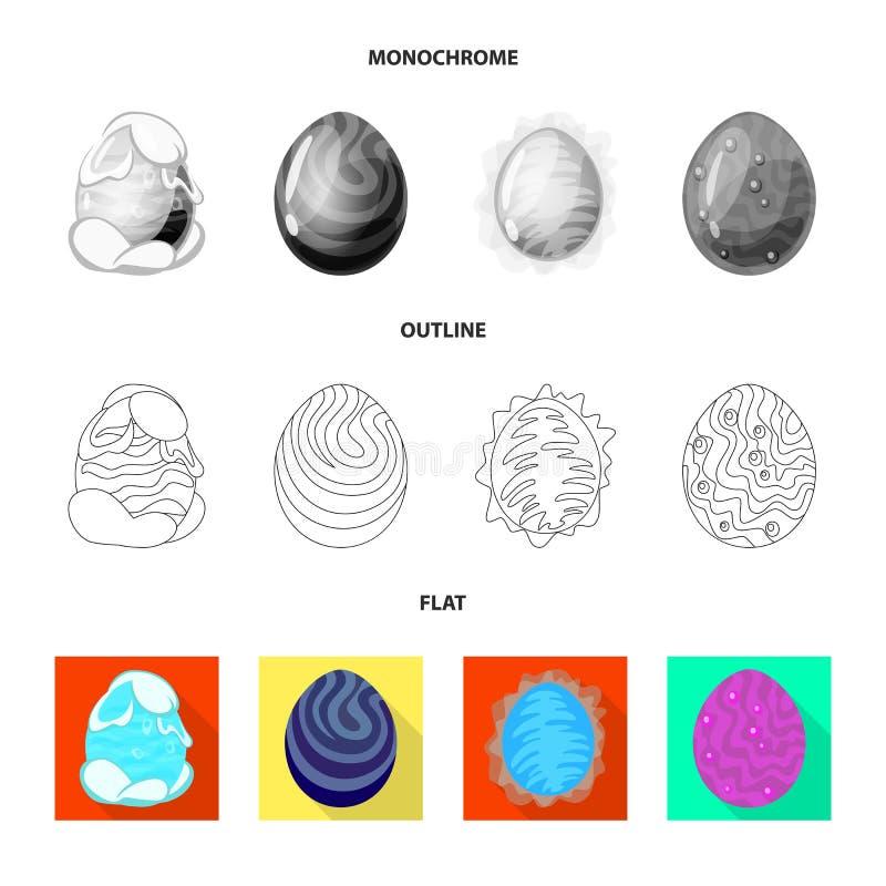 Wektorowa ilustracja zwierzęcy i prehistoryczny symbol Set zwierzęca i śliczna wektorowa ikona dla zapasu royalty ilustracja