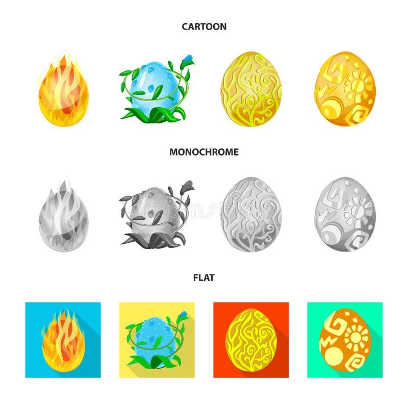 Wektorowa ilustracja zwierzęcy i prehistoryczny znak Kolekcja zwierzęca i śliczna wektorowa ikona dla zapasu royalty ilustracja