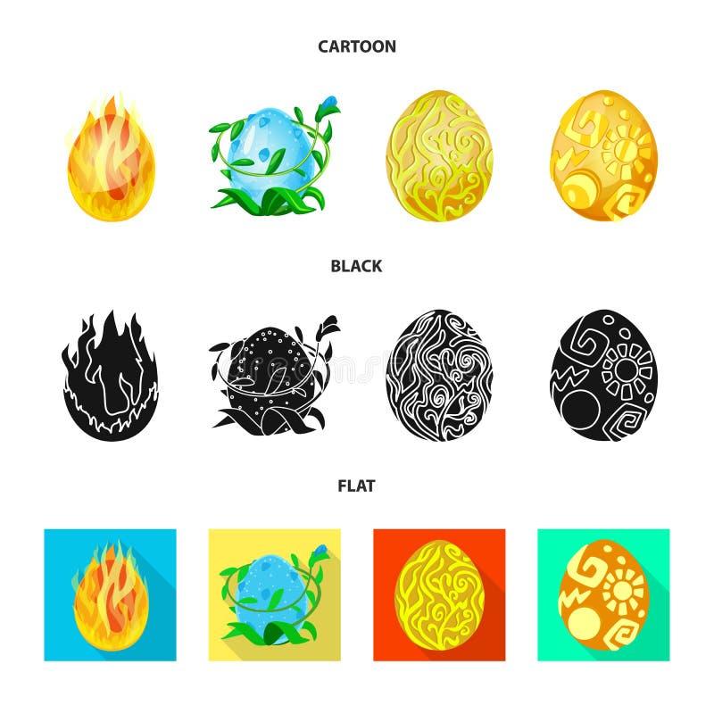Wektorowa ilustracja zwierzęcy i prehistoryczny znak Set zwierzęcy i śliczny akcyjny symbol dla sieci royalty ilustracja