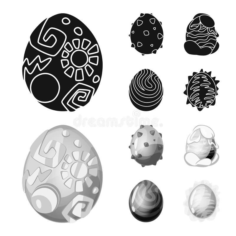 Wektorowa ilustracja zwierzęcy i prehistoryczny znak Set zwierzęca i śliczna akcyjna wektorowa ilustracja ilustracja wektor