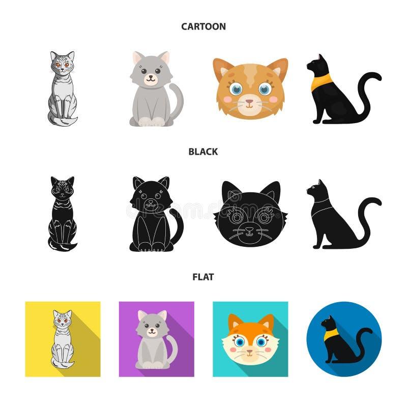 Wektorowa ilustracja zwierz?cia domowego i sphynx ikona Set zwierz? domowe i zabawy akcyjna wektorowa ilustracja ilustracja wektor