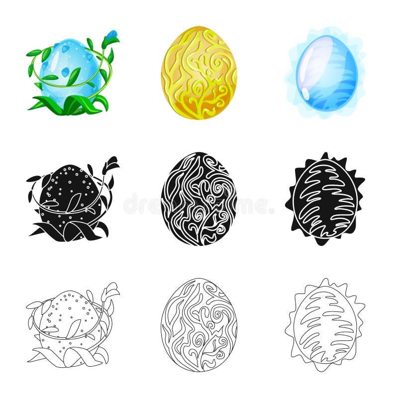 Wektorowa ilustracja zwierz?cy i prehistoryczny symbol Kolekcja zwierz?ca i ?liczna akcyjna wektorowa ilustracja royalty ilustracja