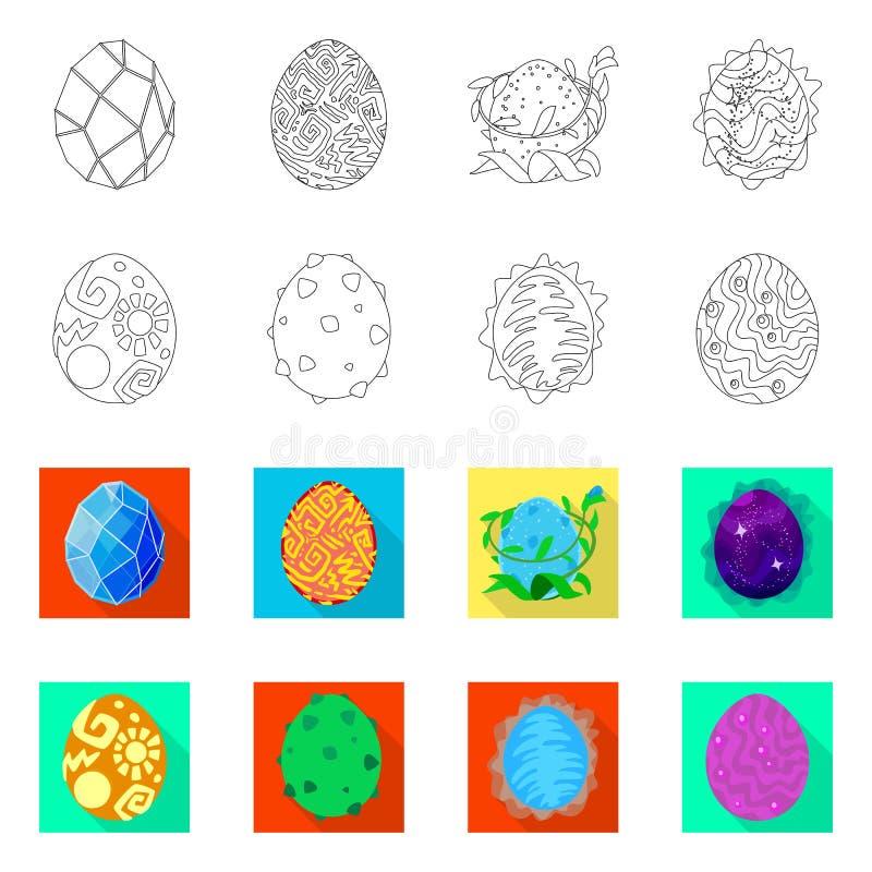 Wektorowa ilustracja zwierz?cy i prehistoryczny symbol Kolekcja zwierz?cy i ?liczny akcyjny symbol dla sieci royalty ilustracja
