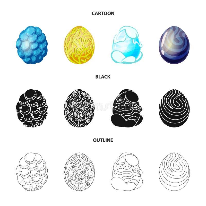 Wektorowa ilustracja zwierz?cy i prehistoryczny symbol Kolekcja zwierz?cy i ?liczny akcyjny symbol dla sieci ilustracji