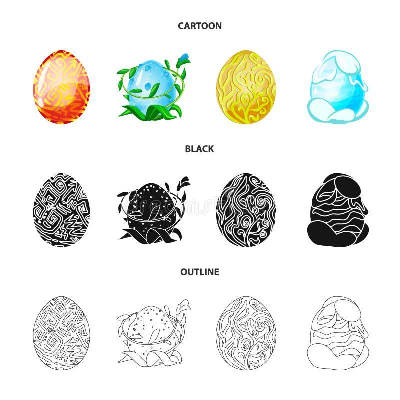 Wektorowa ilustracja zwierz?cy i prehistoryczny symbol Kolekcja zwierz?cy i ?liczny akcyjny symbol dla sieci ilustracja wektor