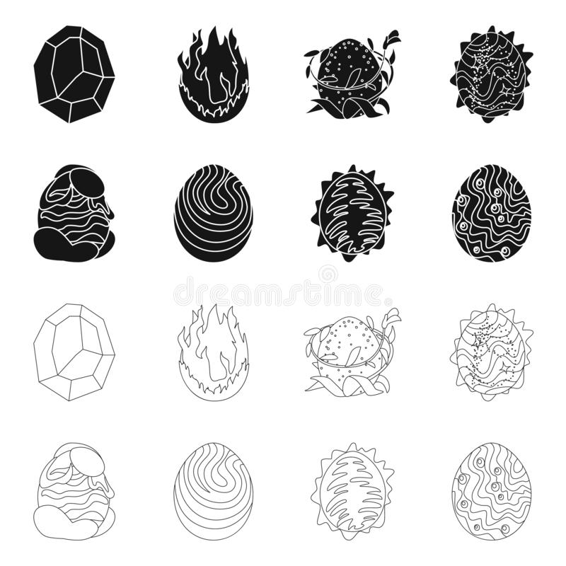 Wektorowa ilustracja zwierz?cy i prehistoryczny symbol Set zwierz?ca i ?liczna akcyjna wektorowa ilustracja ilustracja wektor