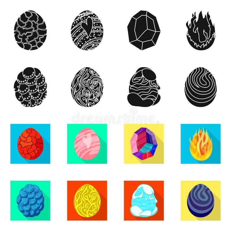 Wektorowa ilustracja zwierz?cy i prehistoryczny symbol Set zwierz?ca i ?liczna wektorowa ikona dla zapasu royalty ilustracja