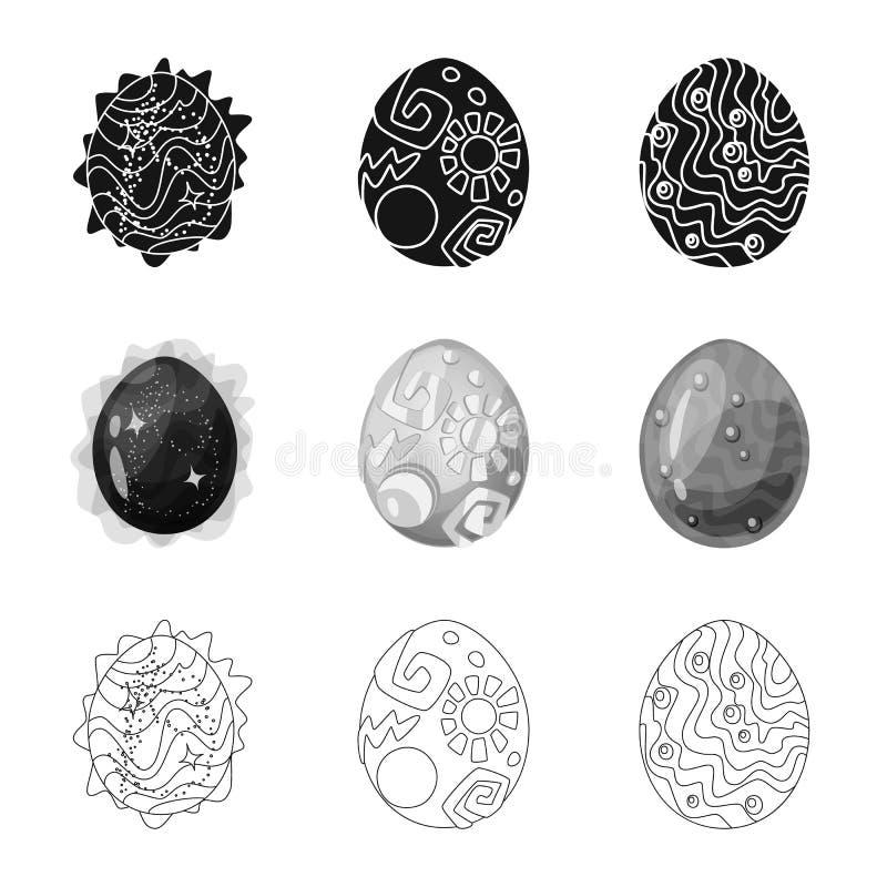Wektorowa ilustracja zwierz?cy i prehistoryczny symbol Set zwierz?cy i ?liczny akcyjny symbol dla sieci ilustracja wektor
