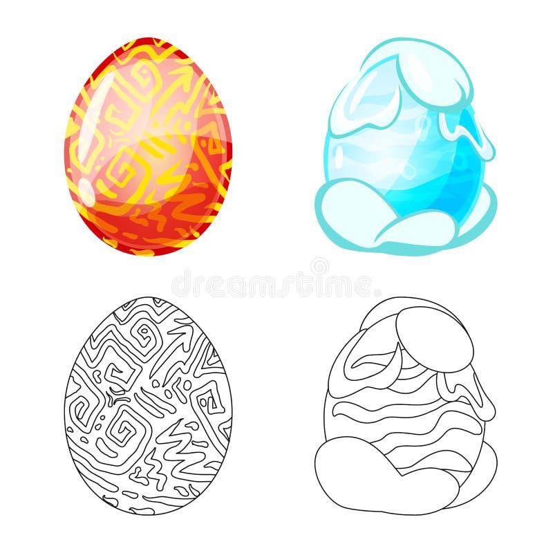 Wektorowa ilustracja zwierz?cy i prehistoryczny znak Kolekcja zwierz?ca i ?liczna wektorowa ikona dla zapasu royalty ilustracja