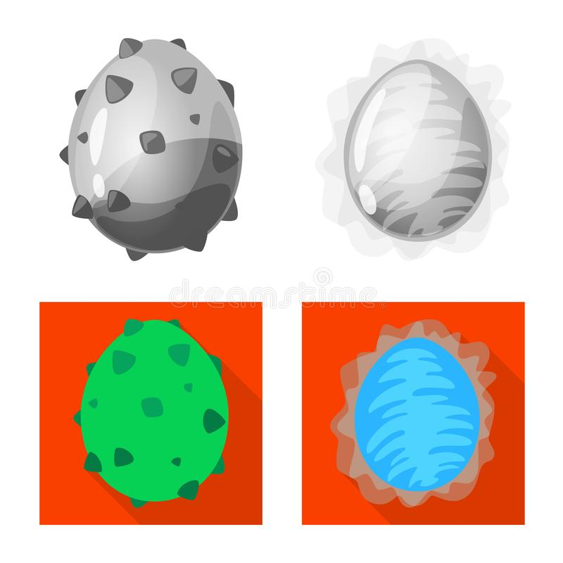 Wektorowa ilustracja zwierz?cy i prehistoryczny znak Kolekcja zwierz?cy i ?liczny akcyjny symbol dla sieci ilustracji