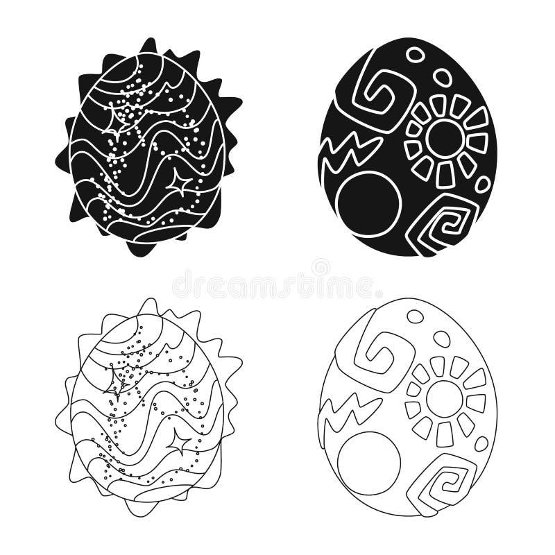 Wektorowa ilustracja zwierz?cy i prehistoryczny znak Set zwierz?ca i ?liczna wektorowa ikona dla zapasu ilustracja wektor