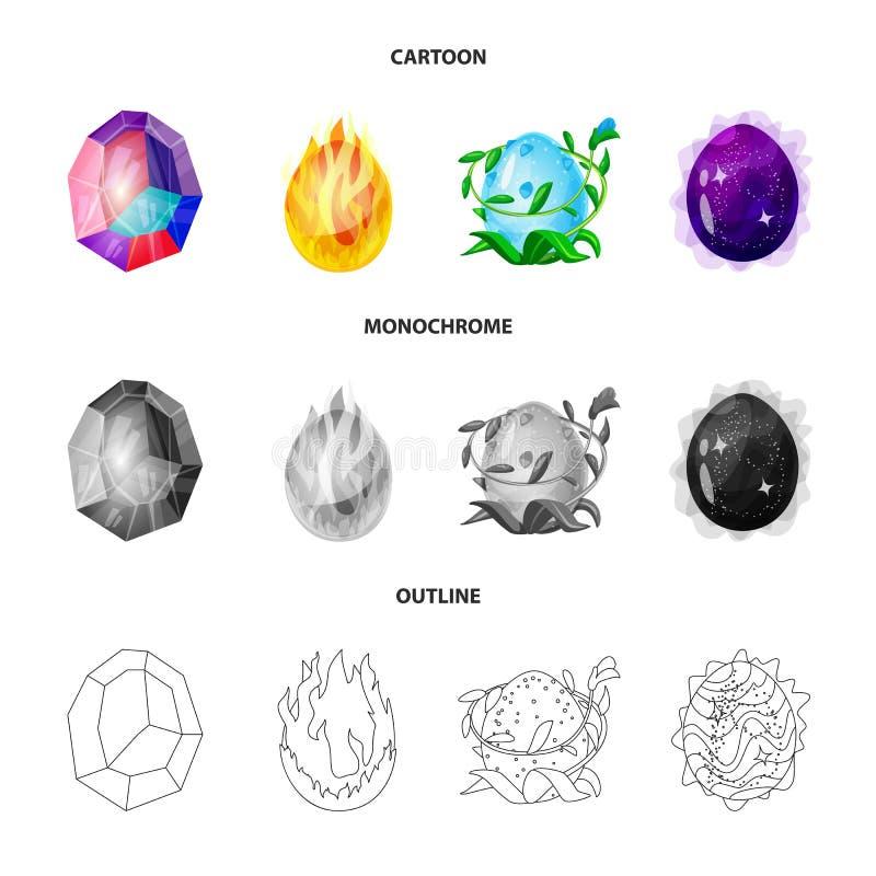Wektorowa ilustracja zwierz?cy i prehistoryczny znak Set zwierz?cy i ?liczny akcyjny symbol dla sieci ilustracji