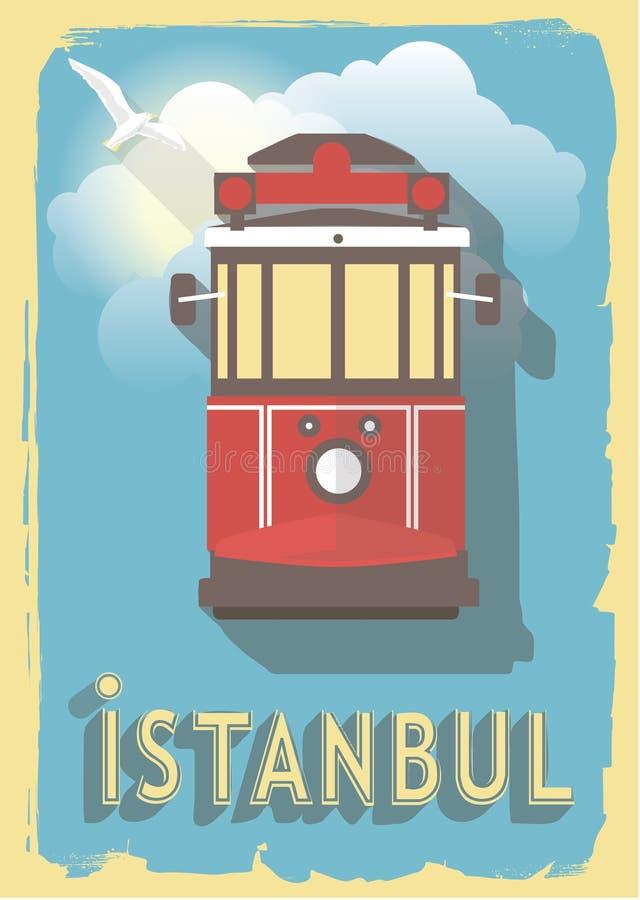 Wektorowa ilustracyjna kolej Istanbul royalty ilustracja