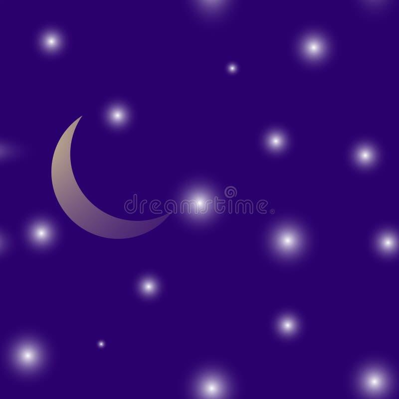 Wektorowa ilustracyjna księżyc i gwiazda Warstwy grupować dla łatwej edytorstwo ilustraci royalty ilustracja