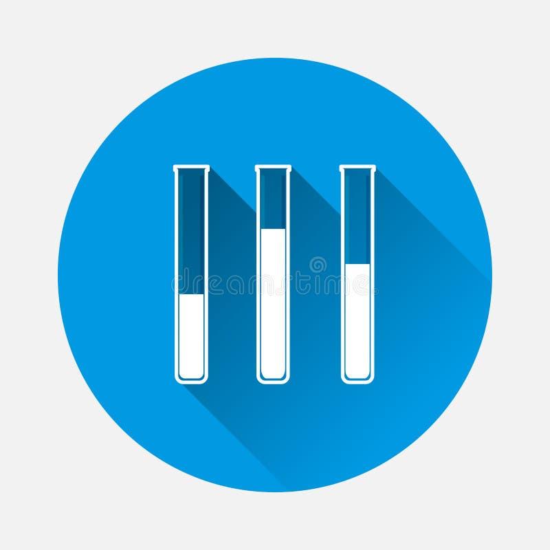 Wektorowa ilustracyjna medyczna farmaceutyczna żarówka na błękitnym backgrou royalty ilustracja