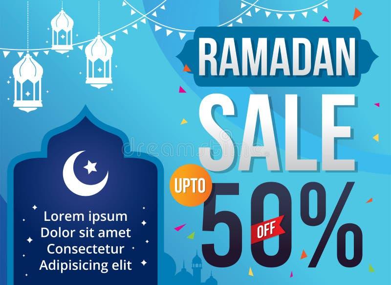 Wektorowa Ilustracyjna Ramadan sprzedaż ilustracja wektor