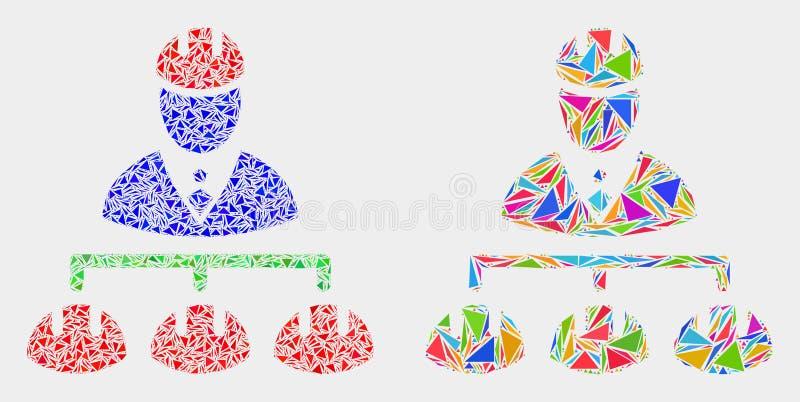 Wektorowa inżynier hierarchii mozaiki ikona trójboków elementy royalty ilustracja