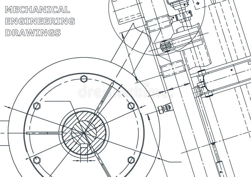 Wektorowa inżynierii ilustracja Pokrywa, ulotka, sztandar, tło ilustracja wektor
