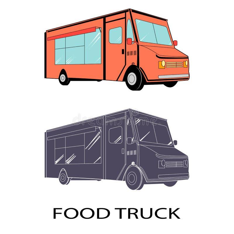 WEKTOROWA jedzenie ciężarówka ilustracji