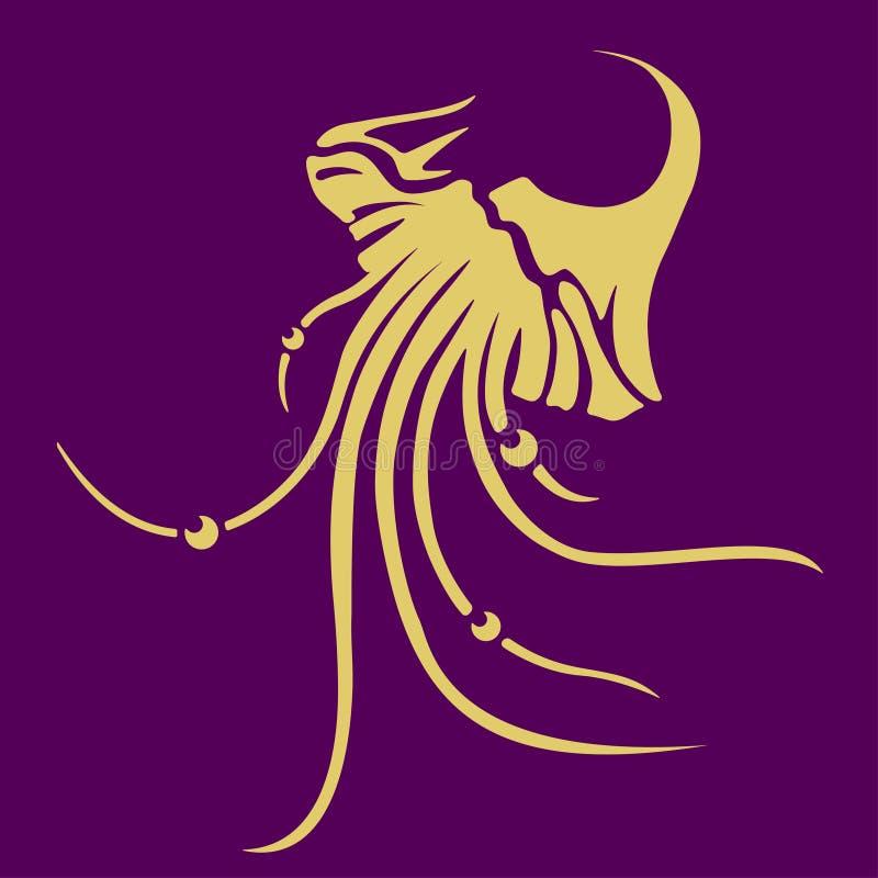 Download Wektorowa jellyfish ikona ilustracja wektor. Ilustracja złożonej z kruchy - 41952019