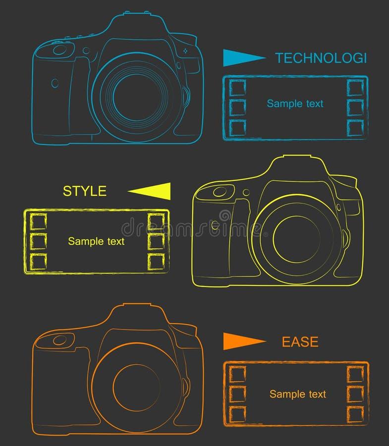 Wektorowa kamera royalty ilustracja