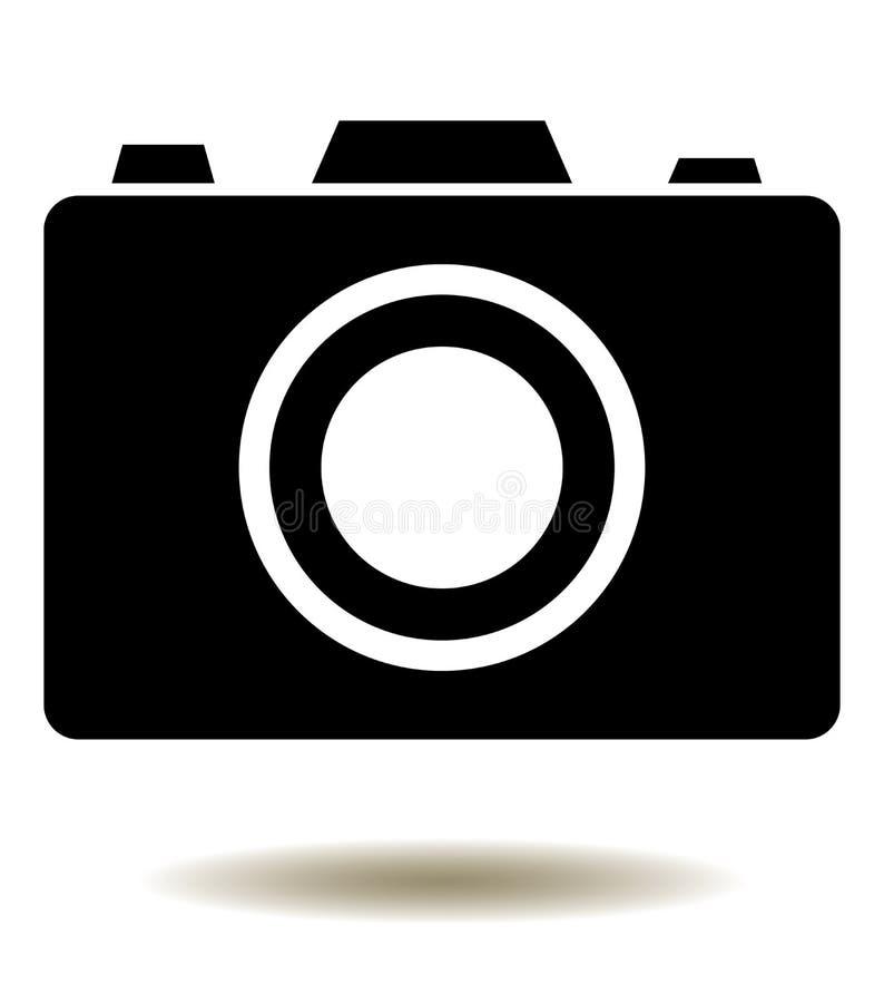 Wektorowa kamery ikona Odizolowywająca Na Białym tle royalty ilustracja