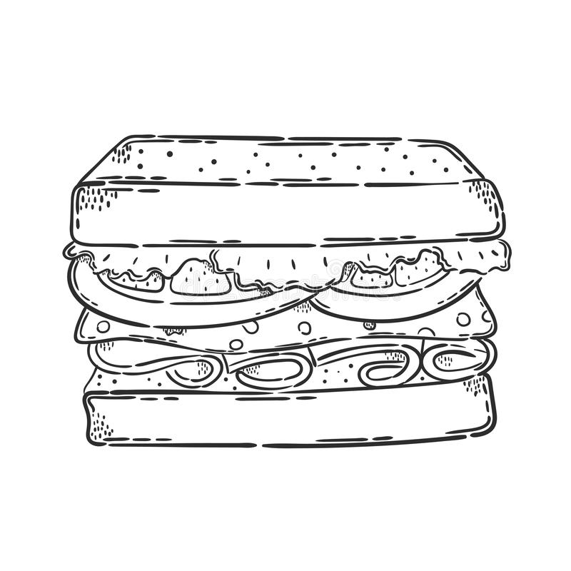 Wektorowa kanapki ikona royalty ilustracja