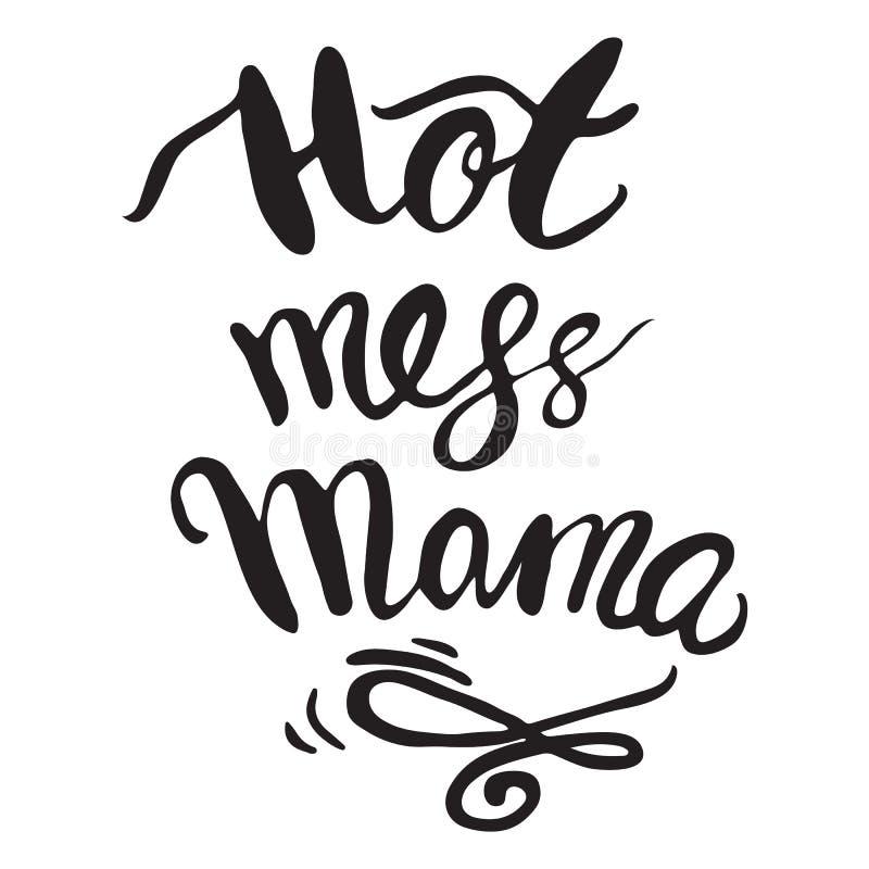 Wektorowa kartka z pozdrowieniami Dla prezent etykietki wystroju bałaganu Gorącego Mama ilustracja wektor